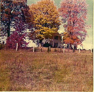 The back of the Macy Mack Gallaher home, from a photo taken in the 1960's.  In front of the house was Beaver Ridge and Hardin Valley Road.  Behind the house the 90 or so acres of dairy farm that occupied Macy until he was in his late 80's.